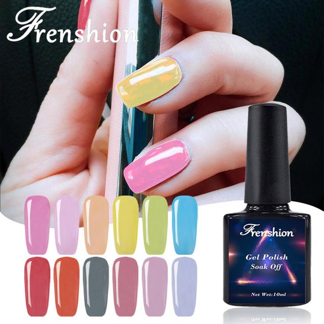 Wholesale New korea japan fashion nail style soak off Jelly color UV Led Gel Polish