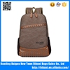 Suitable for teenager men leather and canvas backpack fashion sport bag backpack with high quality