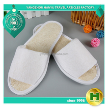 Luffa Sponge Hotel Slippers / Summer Cool Material Salon Indoor Slippers / Custom Durable Comfortable Special Inn Slippers