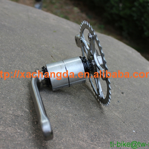Titanium bike Chain rings Ti bicycle spider and Titanium ISIS crank sets spider chain ring and bolt from China