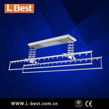 ceiling mounted automatic clothes drying rack