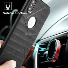 Magentic Car Holder Soft TPU Mobile Phone Accessories Phone Cover Case For iPhone 8