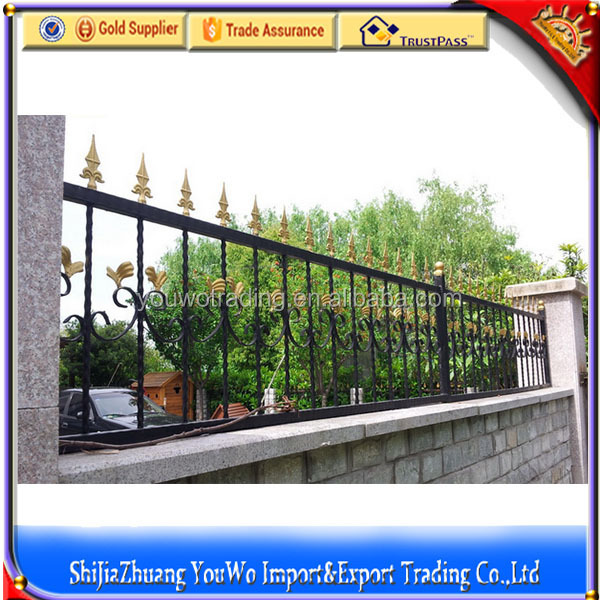 ornamental iron fence/iron fence pickets/Standard Ornamental & Commercial Iron Fencings