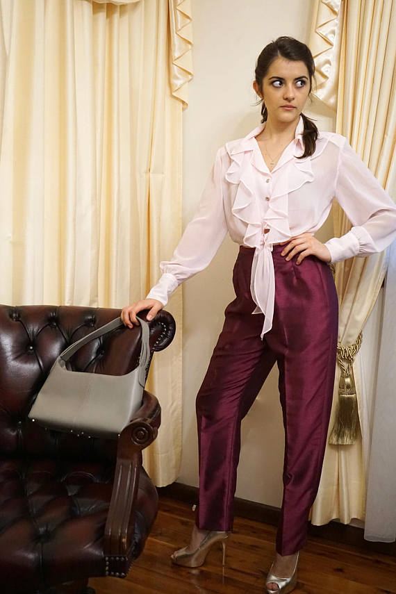 Hot sale white shirts women's business wear Elegant pant suits for office ladies