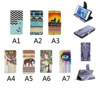 Fashion printed case flip cover for iphone 6 , wallet leather cases drawing customize for iphone 6