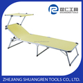 Adjustable aluminum sun bed with shade, sun lounger,/sun bed