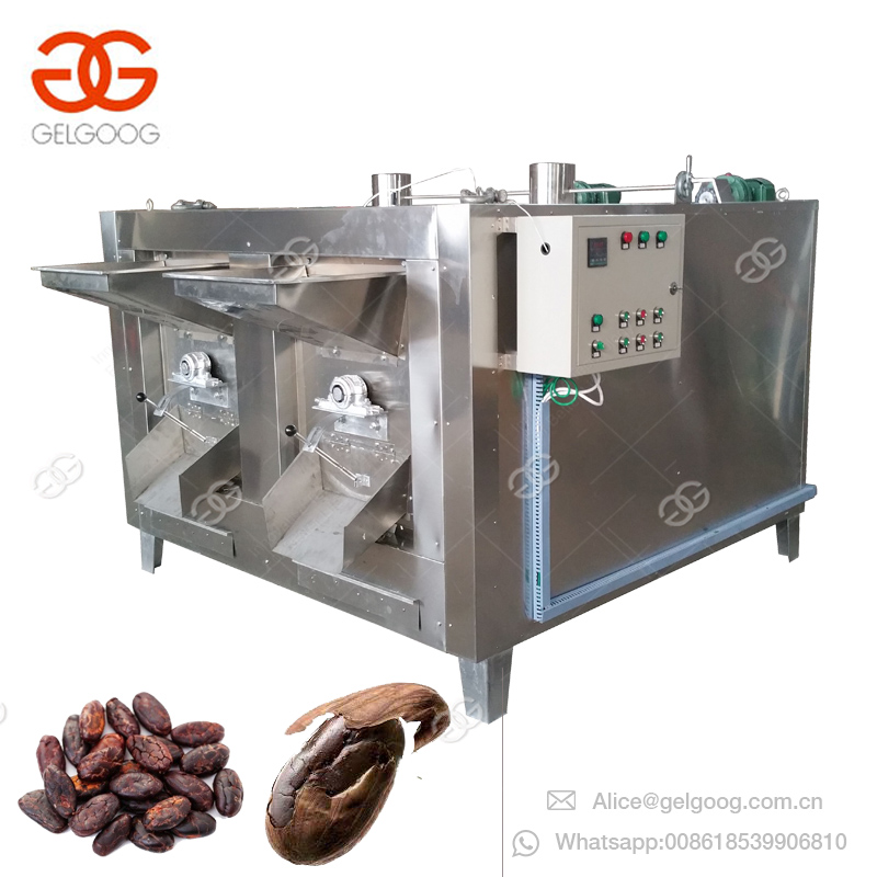 Commercial Nut Barley Wheat Grain Chestnut Soybean Flax Sunflower Seed Cacao Coffee Roasting Cocoa Bean Roaster Machine For Sale