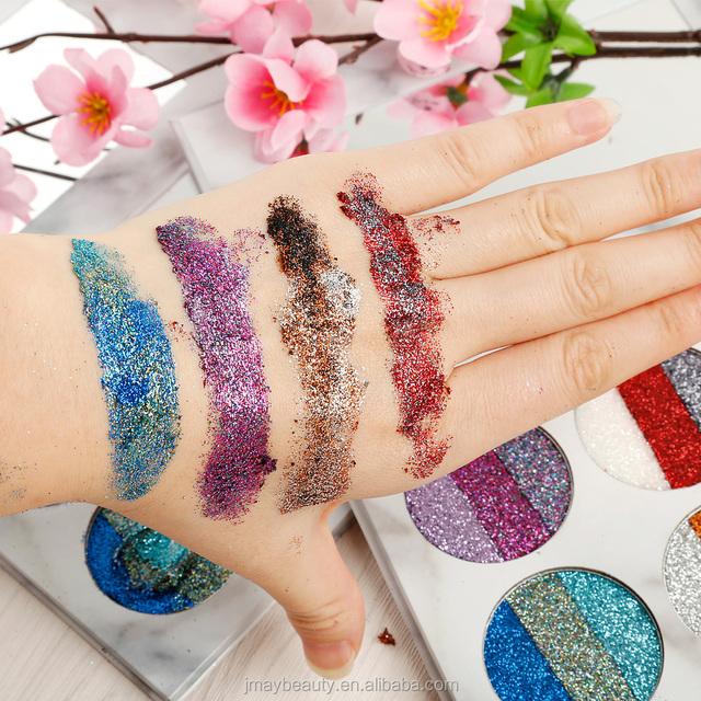 eyeshadow palette glitter pallet with lipstick palette 2 in 1 shimmer eyeshadow and matte lipstick palette marble design