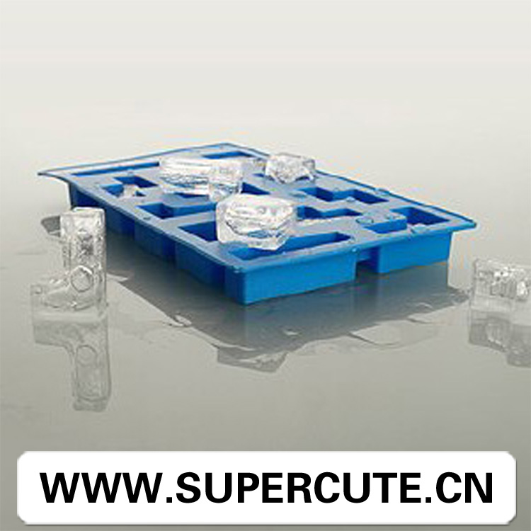 Funny design FDA silicone green tetris personalized ice cube tray