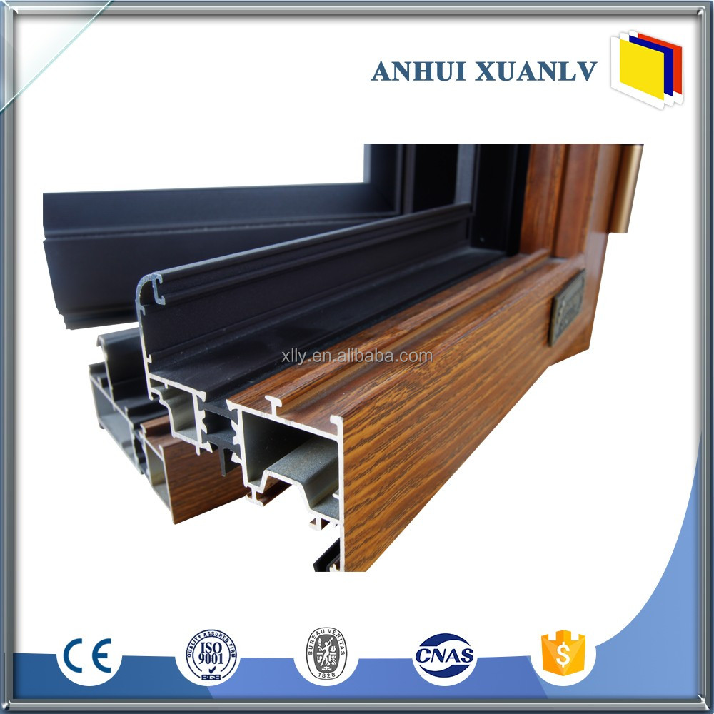 Alloy 6063 aluminum sliding door and window profile Frames