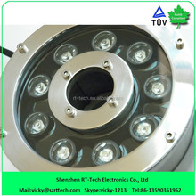 12W IP68 underwater light mtu spare parts/ underwater light for boat