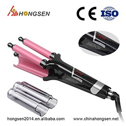 2018 new hair curler wholesale ceramic curling tongs curling wand iron