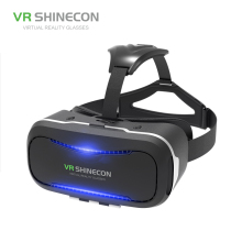 VR Shinecon original factory 1080p 3d video glasses with headstrap for 4.7-6.0''