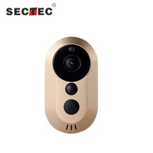 Smart Home Mobile Phone Video Enabled Wifi Battery Hidden Doorbell Camera