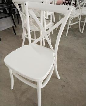 NEW KD PP antique resin crossback dining wedding chair