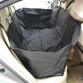 Car SUV Back Seat Cover for Pet Dogs Cats Large Hammock Bed - Black