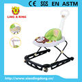 2016 NEW BABY WALKER WITH METAL BASE AND MONKEY MUSICAL AND FLASHING FACE