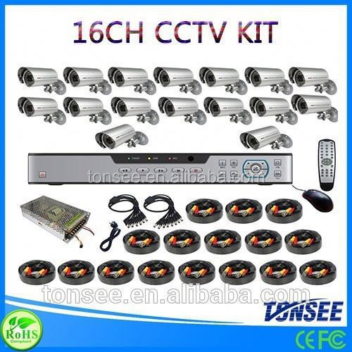 Digital Camera kit list trading companies dubai 16CH CCTV DVR with 800TVL CMOS IR bullet Cameras dvr kit