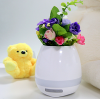 Creative Singing music Flower Pot with LED Light,Smart Music Flower Pot with Bluetooth Speaker