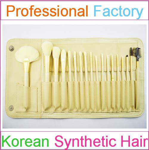 18pcs vegan golden lady cosmetic brush applicator brush cosmetic