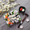 KW-0014FG-GN Plastic disposable sushi container with sealed lid usage takeaway food