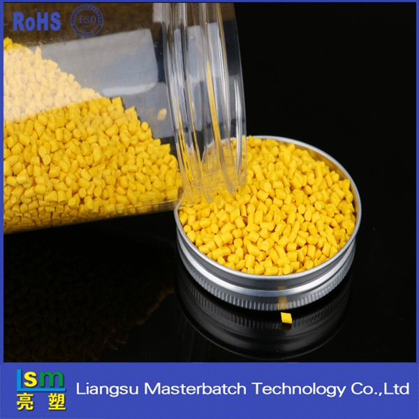 Color Yellow Masterbatch polylactic Acid resin PLA granules /PLA plastic raw material
