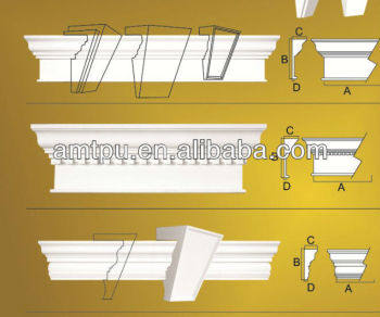 Exterior crown molding window decoration buy for Advanced molding and decoration