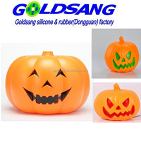 Novelty Halloween party gifts,LED light silicone pumpkin lantern,Halloween LED pumpkin toys