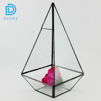 Hot selling wholesale indoor plant glass terrarium clear glass geometrical hanging terrarium- clear glass hanging vases