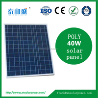 China manufacture PV poly 40W solar panel for sale