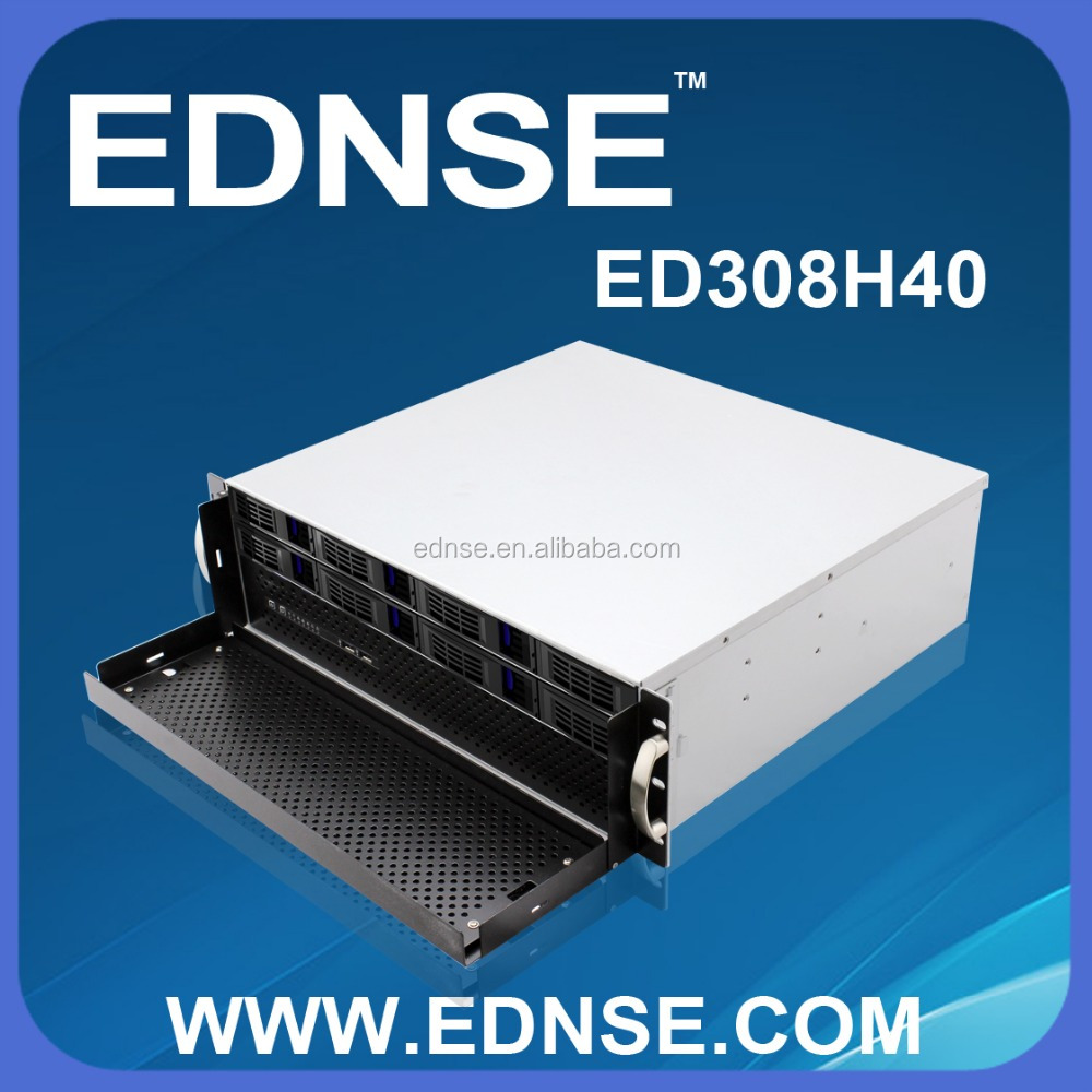 ED308H40-D Ultra Compact 3U Server Case With Hot Swap 8 Bay for NAS