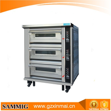 3 layer deck oven with steam for baking bread