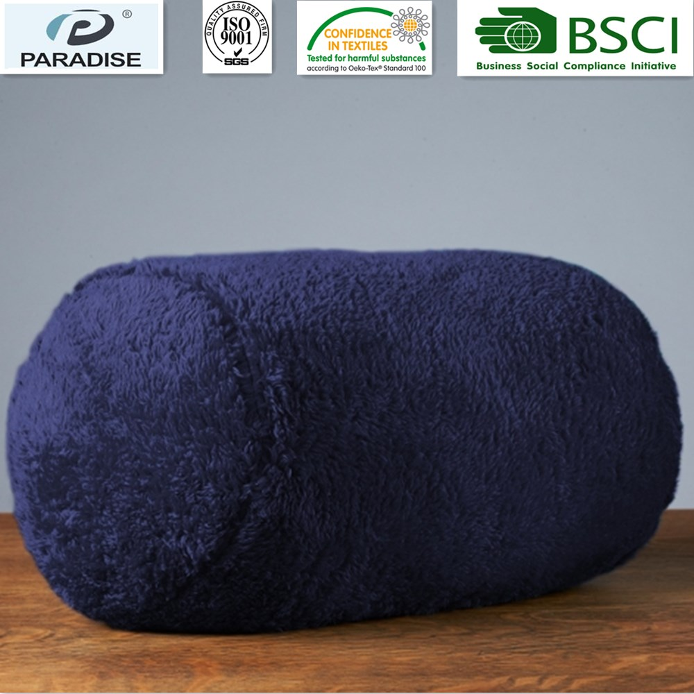 Decorative Extra-Fluffy Fabric In A Log Neckroll Pillow Atlantis Color