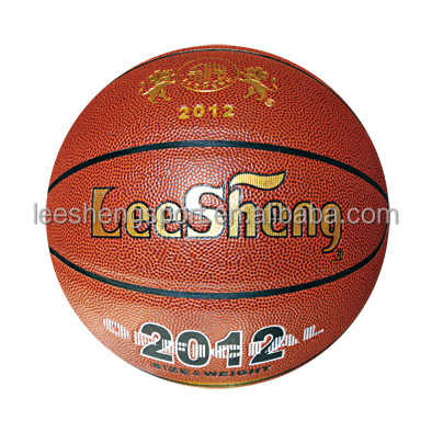 Rubber bladder Anti-skidding PU leather basketball