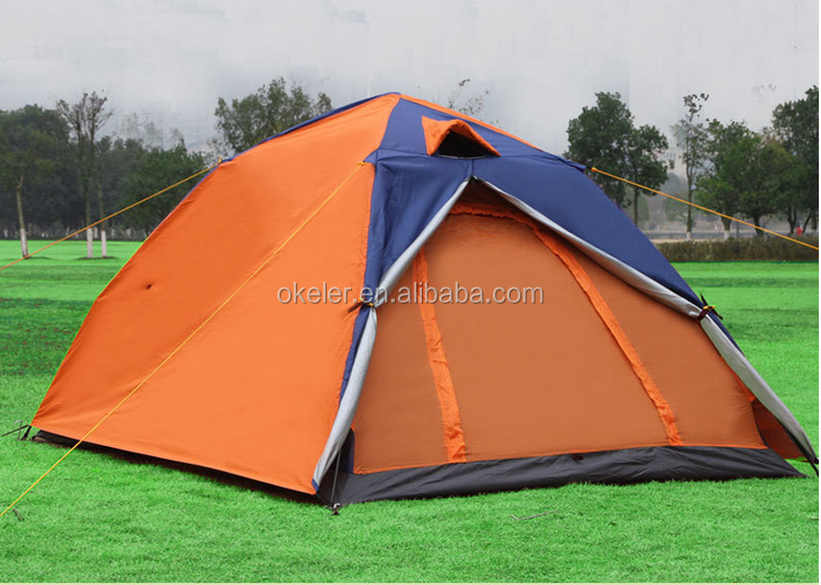 Outdoor Camping Tents Easy Builded Double Layer Double Door Tent Manufacture China