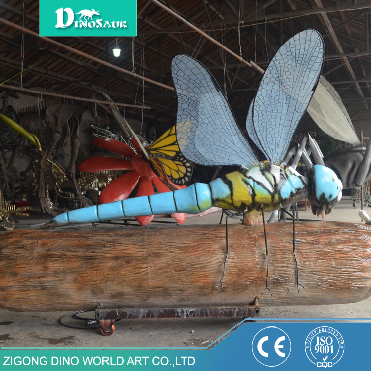 Park Animatronic Amusement Model Insect Dragonfly