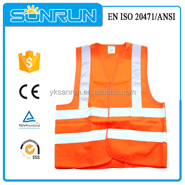 High visibility yellow 3M mine reflective safety clothing