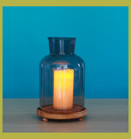 Hand blown bulk glass votive candle holders