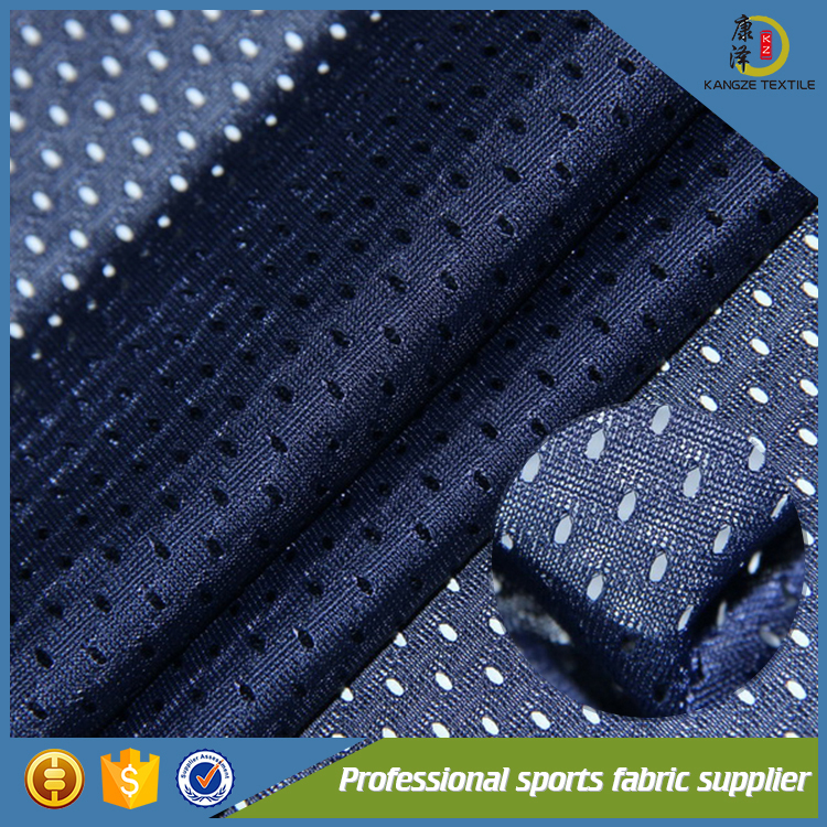 2017 fashion polyester cheap big hole knitted mesh fabric