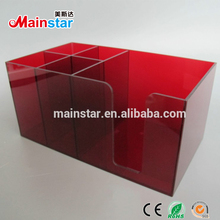 Customized clear acrylic cosmetic beauty jewelry organizer box