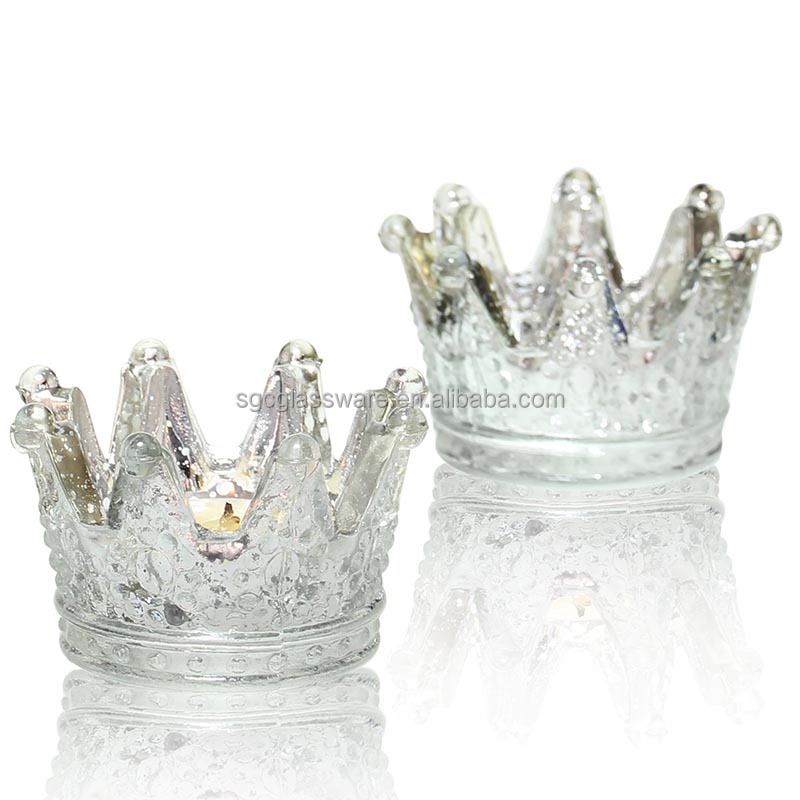New arrival crown beaded candle holders