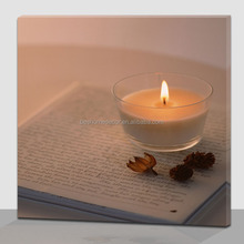 Book and candles lighted canvas art printing for schoolroom