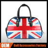 OEM Golf New Design Boston Bag UK Flag PU Leather Golf Bag