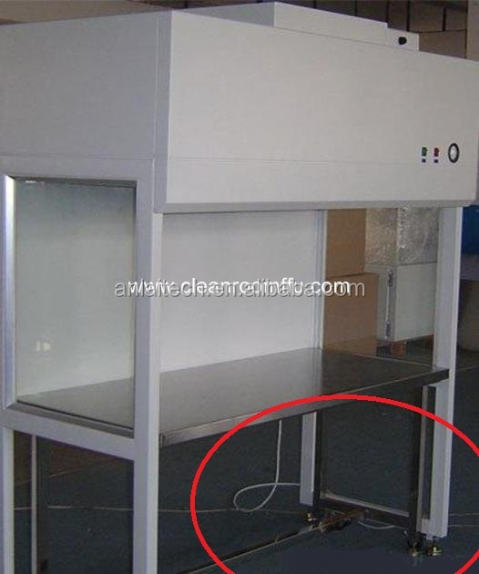 Non viberation Vertical laminar air flow cabinet bench with UV lamp