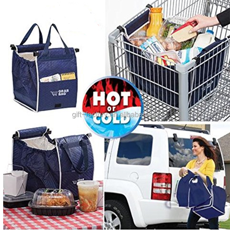 Reusable Grab Bags Shopping Grocery Bag Foldable Supermarket trolley Storage Bags