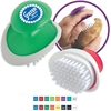 Palm Fruit & Vegetable Brush - ergonomic design allows you to slide hand between handle and base and comes with your logo