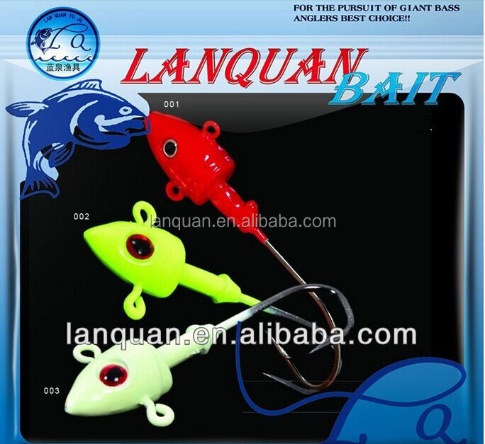 Lanquan 25g/35g hot sale jig head fishing lure JID HEAD-4