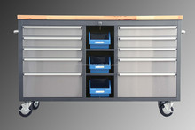 Heavy duty worktop tool cabinets mobile 60'' rolling tool chest on wheels