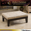 antique european style fabric knitted ottoman stool