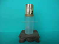 100ml frosted cylinder perfume glass bottle with sprayer wholesale or OEM